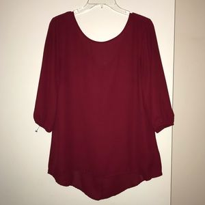 Maroon Blouse w/ Bow